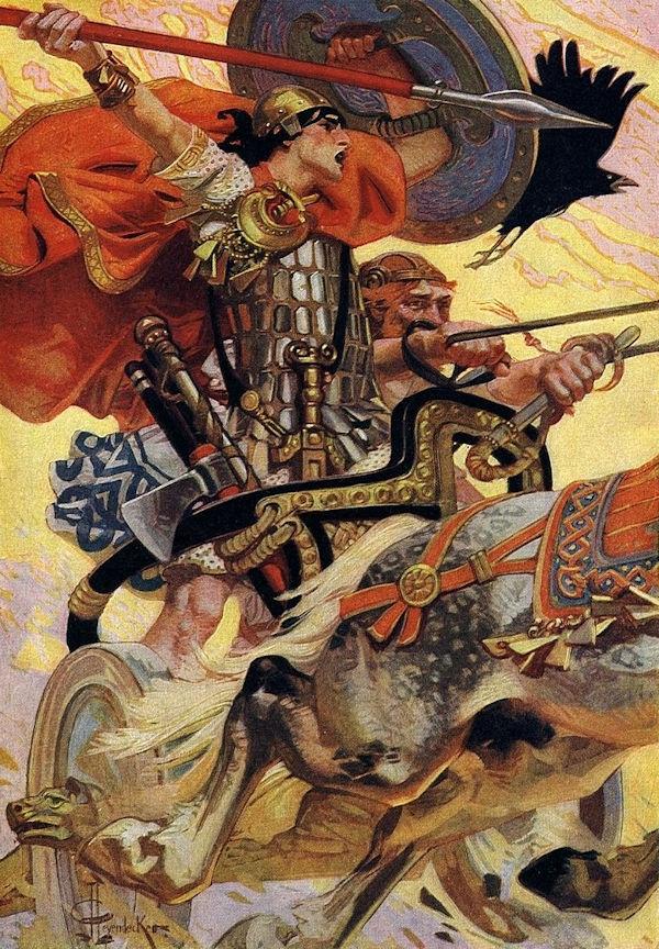 Cuchulain in Battle by J. C. Leyendecker