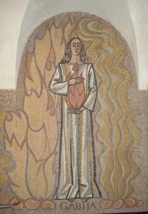 Gabija, mosaic by Vitolis Trušys
