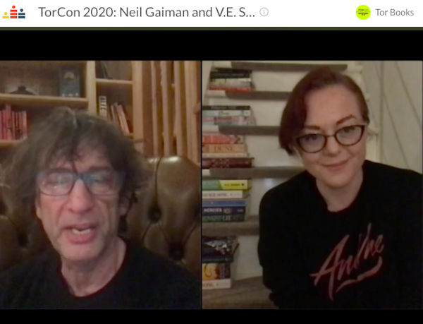 Neil Gaiman and V. E. Schwab