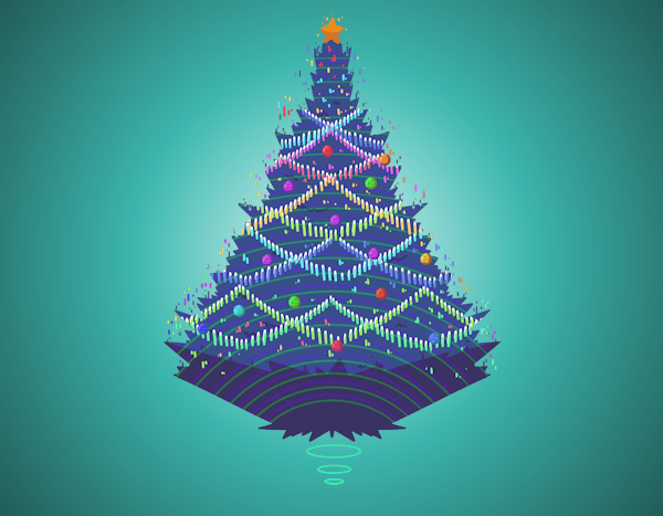 Holograph Christmas Tree by sntmntlrestart (detail)